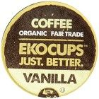 EKOCUPS  Organic Artisan Coffee, Vanilla, Medium roast for Keurig K-cup single serve Brewers, 0.5 Ounce, 10 count