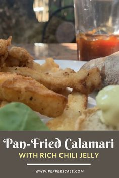 The truly great thing about this pan-fried calamari recipe is that it's so easy to cook outstandingly well. Hot and fast is the key to this simple, elegant starter. Serve it with our first-class chili jelly for that touch of pop that makes things even more memorable. #panfried #calamari #chilijelly Spicy Grilled Shrimp, Spicy Steak, Lobster Recipes, Crab Recipes, Spicy Appetizers, Appetizer Recipes, Crab Risotto, Chipotle Recipes, Calamari Recipes