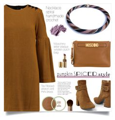 """Pumpkin style!"" by samra-bv ❤ liked on Polyvore featuring TIBI, Venus, Moschino and Bobbi Brown Cosmetics"