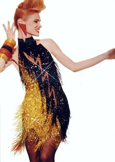 Hey what else could you expect from Bob Mackie. He created an entire look - no matter how wild!