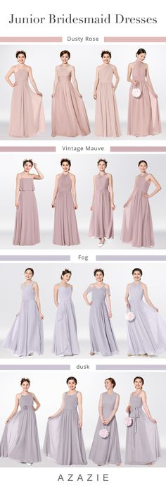 A nice choice for your junior bridesmaids at Azazie.