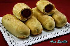 Bollos preñaos Ana Sevilla con Thermomix Quiches, Hot Dog Buns, Hot Dogs, Tapas, Pan Relleno, Sweet Potato, Food To Make, Bread, Vegetables