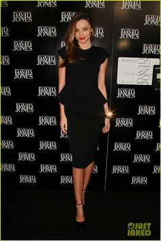 Miranda Kerr wore a Scanlan & Theodore skirt and top, Valentino shoes, and a Bulgari watch.
