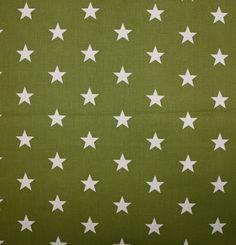 Baumwoll Sternen Stars Kinder Deko Ouilt Patchwork Stoff kiwi weiß