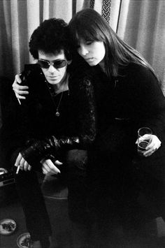 Lou Reed and Nico photographed by Mick Rock, Blake's Hotel, London (1975)