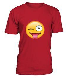 Tongue Out Emoji With Winking Eye T shirt Emoticon Tshirt
