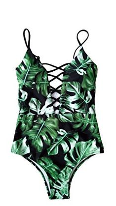 83b3f1d41 New Sondiborn Swimwear Women s One Piece Criss Bandage Swimsuit Solid Color  Floral Print Monokini online. Find the perfect Naggoo Swimsuit from top  store.