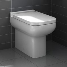 Short Projection 600mm Back to Wall Toilet inc Soft Close Seat - soak.com