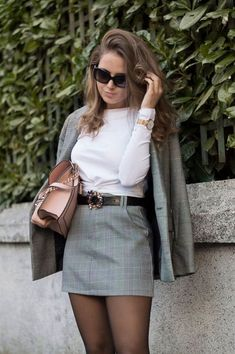 Ideas of elegant outfits with short skirt for work - Woman of Real guide for the current woman. - Ideas of elegant outfits with short skirt for work – Woman of 10 Best Picture For spring outfits - Mode Outfits, Office Outfits, Short Outfits, Trendy Outfits, Fall Outfits, Fashion Outfits, Christmas Outfits, Couple Outfits, Party Outfits