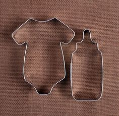 Baby Shower Cookie Cutters: Bottle & Onesie
