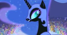 """""""Oh my beloved subjects, it's been so long since I've seen your precious little sun-loving faces...."""" ~Nightmare Moon"""