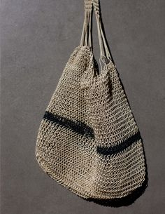 sisal bag by valentina hoyos, to store onion, garlic..