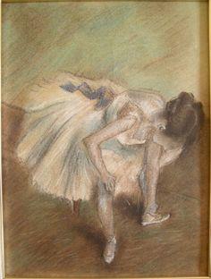 Edgar Degas, Ballerina seduta che si massaggia la caviglia sinistra, 1882