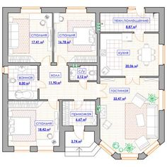 23 Ideas Small House Design Ideas Bungalows For 2020 Home Map Design, Bungalow House Design, Small House Design, Home Design Plans, House Plans Mansion, Family House Plans, Dream House Plans, Beautiful House Plans, Simple House Plans