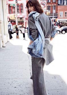 Denim Blues: Sibui Nazarenko Poses for Billy Kidd in CR Fashion Book