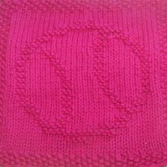 This knit dishcloth pattern is a picture of a baseball. It has two curved lines to suggest the stitching on the baseball. **All purchases are for a downloadable PDF file of the knitting pattern and not for the actual dishcloth.**
