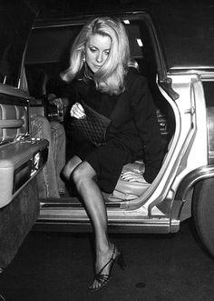 Catherine Deneuve fotografiada por Ron Galella, 1980