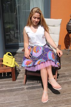 """MBALI"" Skirt Vogue Home, Summer Collection, Trendy Outfits, African, Skirts, Fabric, How To Wear, Clothes, Design"