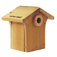 Getting a new house for the blue birds and this is it. Wild Birds Unlimited, Bluebird House, Bird Houses, Blue Bird, Bird Feeders, Habitats, New Homes, Woodworking, Outdoor Decor