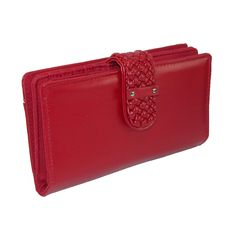 This is the perfect wallet to carry all your belongings. This super wallet has a compartment for all your organizing needs. The body has a soft hand and the braided snap closure adds an extra touch of style. $24.95