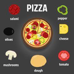 Pizza and Ingredients Illustration   Design Bundles