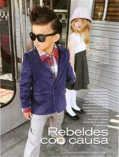 "Revista ""LUZ"" . Moda Niños en Trixie costa salguero ."