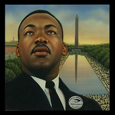33c Martin Luther King Jr. approved stamp art by Keith Birdsong, c. 1999
