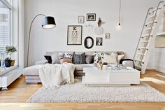 Keep updated with the newest small living room decoration some ideas (chic & modern). Find excellent ways to get elegant design even although you have a small living room. Home Living Room, Apartment Living, Living Room Designs, Living Room Decor, Living Spaces, Small Living, Modern Living, Scandinavian Interior Design, Scandinavian Style