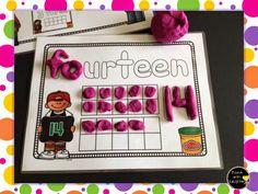 Play Dough Fun! Number mats and FREE alphabet patterns