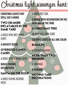 Spending December: A Christmas Light Scavenger Hunt.