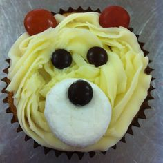 would change colors. Teddy Bear Cupcakes, Teddy Bear Party, Build A Bear Birthday, Cute Food, Kids Meals, Cupcake Cakes, Birthday Ideas, Crafts For Kids, Parties