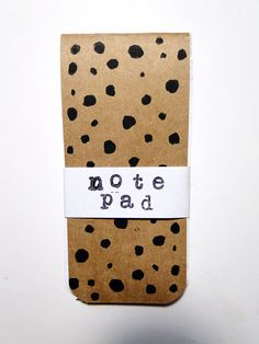 The dot, chic hand printed linocut polka dot to do list notepad, grocery list, back to school notebook journal.
