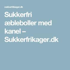 Sukkerfri æbleboller med kanel – Sukkerfrikager.dk
