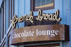 French Broad Chocolate Lounge in Asheville, NC http://frenchbroadchocolates.com/the-chocolate-lounge/lounge-hours-location/ 10 S. Pack Square, Asheville, NC, 28801