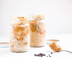 Peanut Butter Overnight Oats - a delicious quick and easy healthy breakfast. The perfect on the go breakfast that will keep you powered up throughout the day.