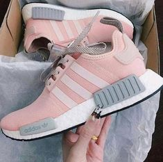 new style 1830e 31881 HOT 🔥 PINK   GREY Adidas Running NMD Shoes for Women. Adidas Skor KvinnorSneakers  ...