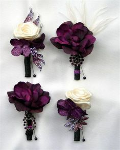 Plum purple and grey elegant wedding color ideas 44