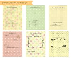 Free-download Baby Book Pages Printed on my Baby Papers