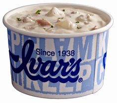 Ivar's Fish and Chips. The clam chowder is the best! And the clams. And the baby prawns. And the tartar sauce. Clam Chowder Recipes, Restaurant Recipes, Seafood Recipes, Soup Recipes, Cooking Recipes, Dinner Recipes, Halibut Recipes, Recipies, Recipes