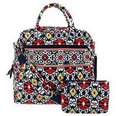 Vera Bradley Signature Print Travel Bag and Slim Cosmetic Case