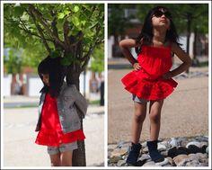 #red #flowers #cute #pretty #blog #floral #pink #denim #jacket #style #gap #serena #bright #happy #toddler #girl #toddlerfashion #fashionista #gray #fashion #blogger #quinoatoddler