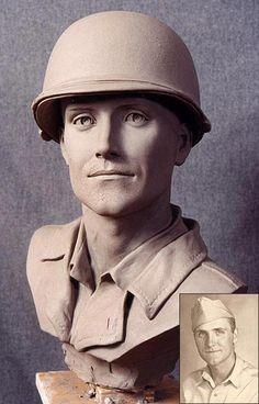 Stone Sculptures, Full Figure Portrait Sculpting by Philippe Faraut