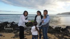The entire family was included in this intimate wedding ceremony at  Wawamalu near Sandy Beach on Oahu's East Shore.