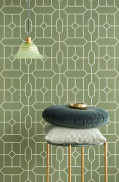 Nieuw: Eijffinger Stature #behang #wallpaper #interieur #interior #inspiratie #inspiration Exterior Design, Interior And Exterior, Tile Patterns, Wall Wallpaper, Tile Floor, Interior Decorating, Art Deco, Home And Garden, Flooring