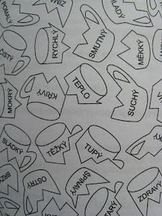 Hrnečková rozvička   Hrnečky (nebo podobné předměty) vystřihneme a rozstřiháme. Úkolem je spojit popř.slepit rozbité hrnečky. Hledáme dvojic... Montessori, Literacy, Language, Teaching, Activities, Writing, Education, School, Petra