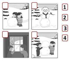 Δραστηριότητες, παιδαγωγικό και εποπτικό υλικό για το Νηπιαγωγείο: Χειμώνας στο Νηπιαγωγείο: Δραστηριότητα με κάρτες ακολουθίας (1)