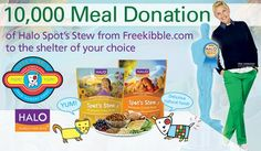 Halo Purely for Pets and Freekibble help feed homeless pets with Oscar swag bag gift!