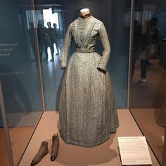Charlotte Bronte's dress is the first thing you see at the Bronte exhibition at the Morgan Library. Another highlight is the original manuscript of Jane Eyre on loan from the British Library. Amazing to see. If you go, try to get a tour. What a fabulous exhibition! #thebrontes