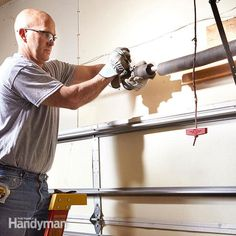 Learn how to repair overhead garage door springs and cables—without…