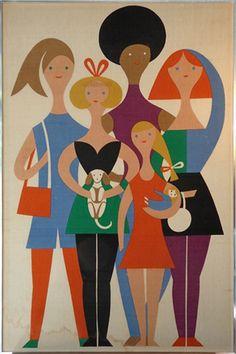 """Environmental Enrichment Panel Series """"Girls"""", Herman Miller, 1972"""